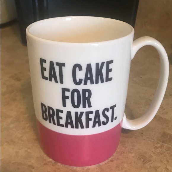 ♠️ Kate Spade Eat Cake For Breakfast Coffee Mug!